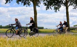 Beeld van fietsers in PARK21