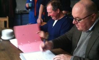 ondertekening boeren overeenkomst met gemeente voor PARK21