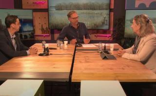 Wethouders Sedee en Sidali tijdens de live uitzending over PARK21